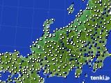 2018年06月29日の北陸地方のアメダス(風向・風速)