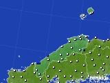 2018年06月29日の島根県のアメダス(風向・風速)