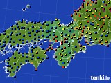 2018年06月30日の近畿地方のアメダス(日照時間)