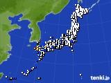 2018年07月03日のアメダス(風向・風速)