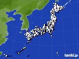 2018年07月09日のアメダス(風向・風速)