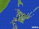北海道地方のアメダス実況(風向・風速)(2018年07月28日)