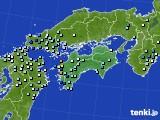 四国地方のアメダス実況(降水量)(2018年07月29日)