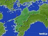 愛媛県のアメダス実況(降水量)(2018年07月29日)
