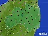 福島県のアメダス実況(気温)(2018年07月29日)