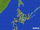 北海道地方のアメダス実況(風向・風速)(2018年07月29日)