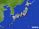2018年08月01日のアメダス(風向・風速)