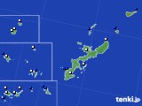 沖縄県のアメダス実況(風向・風速)(2018年08月03日)