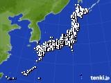 2018年08月04日のアメダス(風向・風速)
