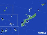 2018年08月09日の沖縄県のアメダス(風向・風速)
