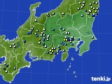 関東・甲信地方のアメダス実況(降水量)(2018年08月13日)