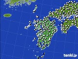 九州地方のアメダス実況(風向・風速)(2018年08月13日)