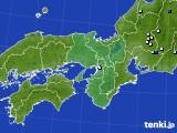 近畿地方のアメダス実況(降水量)(2018年08月14日)