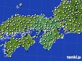 近畿地方のアメダス実況(風向・風速)(2018年08月14日)