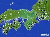 近畿地方のアメダス実況(降水量)(2018年08月15日)