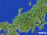 北陸地方のアメダス実況(風向・風速)(2018年08月15日)