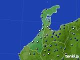 石川県のアメダス実況(降水量)(2018年08月16日)