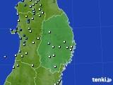 岩手県のアメダス実況(降水量)(2018年08月16日)