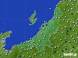 新潟県のアメダス実況(風向・風速)(2018年08月16日)
