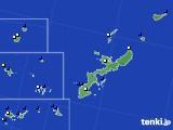 2018年08月17日の沖縄県のアメダス(風向・風速)