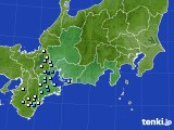 東海地方のアメダス実況(降水量)(2018年08月21日)