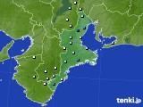 2018年08月21日の三重県のアメダス(降水量)