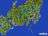 関東・甲信地方のアメダス実況(日照時間)(2018年08月21日)