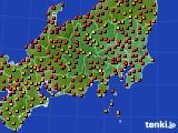 関東・甲信地方のアメダス実況(気温)(2018年08月21日)