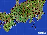 東海地方のアメダス実況(気温)(2018年08月21日)