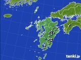 九州地方のアメダス実況(降水量)(2018年08月22日)