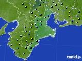2018年08月23日の三重県のアメダス(降水量)