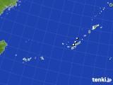 沖縄地方のアメダス実況(降水量)(2018年08月24日)