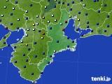 三重県のアメダス実況(日照時間)(2018年08月24日)