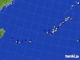 沖縄地方のアメダス実況(風向・風速)(2018年08月24日)