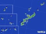 沖縄県のアメダス実況(風向・風速)(2018年08月24日)