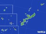 沖縄県のアメダス実況(降水量)(2018年08月25日)
