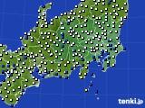 関東・甲信地方のアメダス実況(風向・風速)(2018年08月25日)