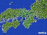近畿地方のアメダス実況(風向・風速)(2018年08月25日)