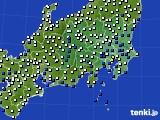 関東・甲信地方のアメダス実況(風向・風速)(2018年09月07日)