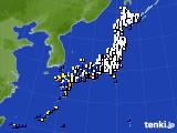 2018年09月30日のアメダス(風向・風速)
