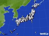 2018年10月03日のアメダス(風向・風速)