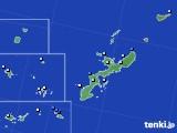 2018年10月04日の沖縄県のアメダス(降水量)