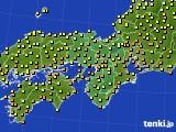 2018年10月09日の近畿地方のアメダス(気温)