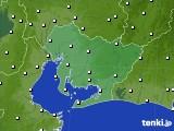 2018年10月10日の愛知県のアメダス(風向・風速)
