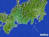 2018年10月11日の東海地方のアメダス(降水量)