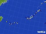 沖縄地方のアメダス実況(風向・風速)(2018年10月12日)