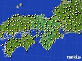 2018年10月13日の近畿地方のアメダス(気温)