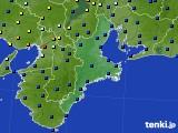 三重県のアメダス実況(日照時間)(2018年10月16日)