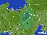 滋賀県のアメダス実況(風向・風速)(2018年10月16日)