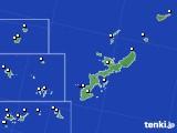 沖縄県のアメダス実況(風向・風速)(2018年10月16日)